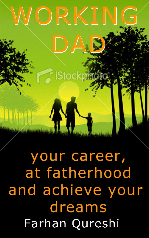 Book Cover Design Concept C: Working Dad mockup 2