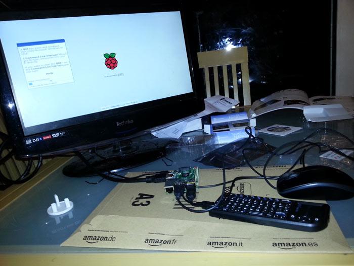 Raspberry Pi 2 the whole set up