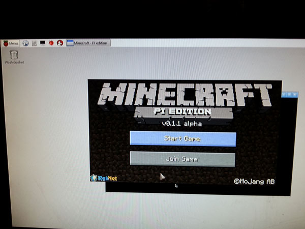 Raspbery Pi 2 comes preloaded with minecraft