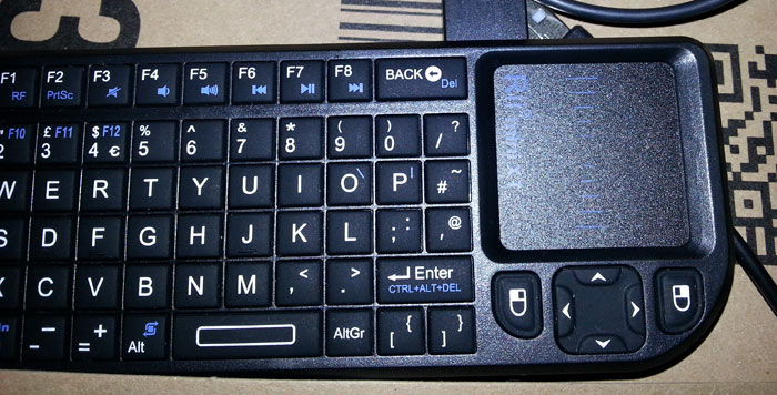 Wireless keyboard for Raspberry Pi 2